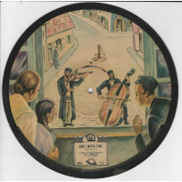 PICTURE DISC YIDDISH S BERLAND 78T25 SATURNE S 211 JIDEL MIT'N FIDL-DER REBBE MIT DI SCHIKSE