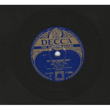 VERA LYNN 78T25 DECCA PHOTO N° 22 164 : ONCE I LOVED YOU/I'LL ALWAYS LOVE YOU